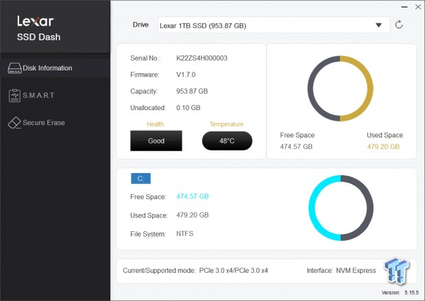 Lexar Professional NM700 1TB M.2 SSD Revisión 05 |  TweakTown.com
