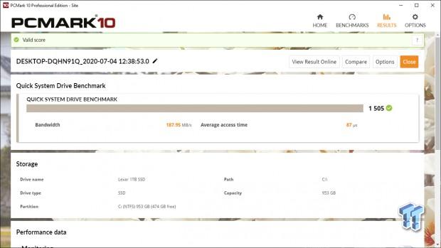 Revisión de Lexar Professional NM700 1TB M.2 SSD 37 |  TweakTown.com