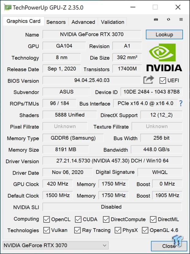 ASUS ROG Strix GeForce RTX 3070 OC Edition Review 803 | TweakTown.com