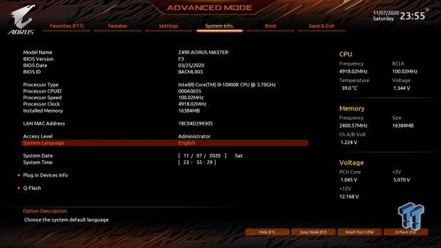 GIGABYTE Z490 AORUS Master Motherboard Review 57   TweakTown.com