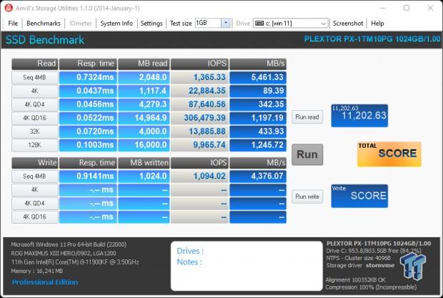Teste do SSD Plextor M10P 1TB - Ainda mais rápido 12    TweakTown.com