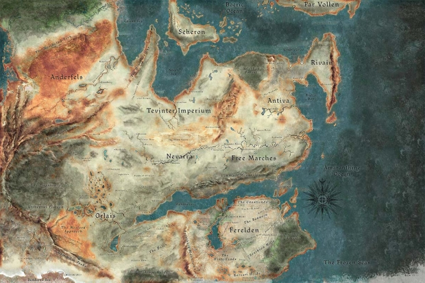 Dragon Age 4's mainland setting confirmed, map may rival Inquisition 344 | TweakTown.com