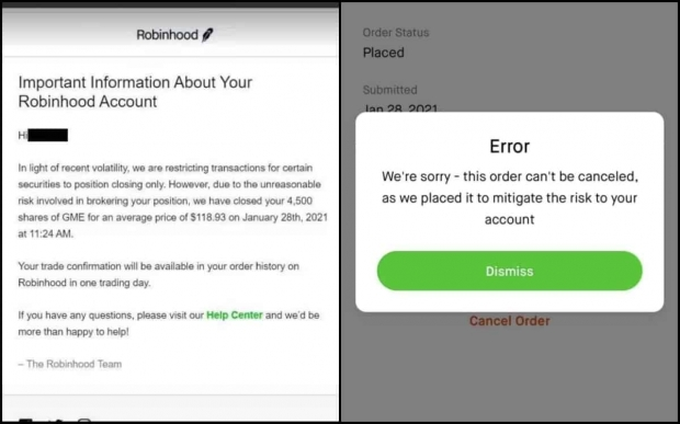 Robinhood halts GameStop trading, sells users stock WITHOUT consent?! 08 | TweakTown.com