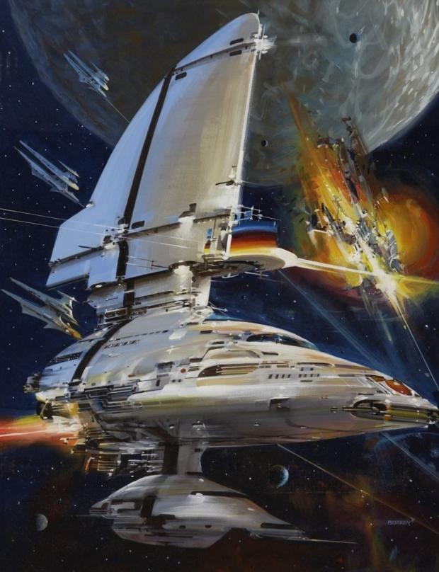 Утечка изображения Starfield заимствована из странного фантастического стиля Джона Берка 71 |  TweakTown.com