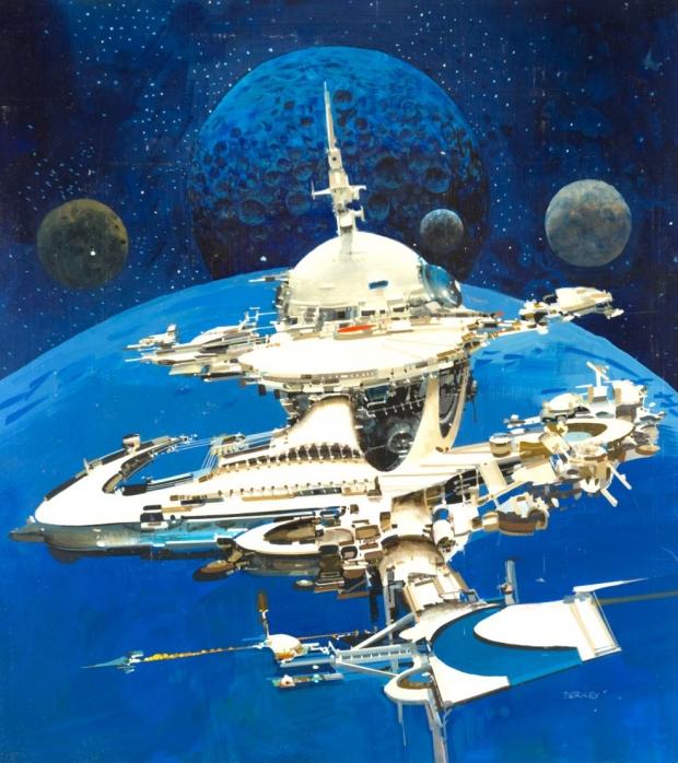 Утечка изображения Starfield заимствована в причудливом стиле научной фантастики Джона Берка 77 |  TweakTown.com