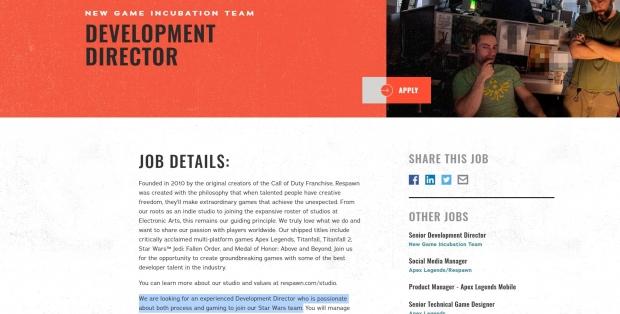 Respawn puede trabajar en varios proyectos de Star Wars a la vez 23 |  TweakTown.com