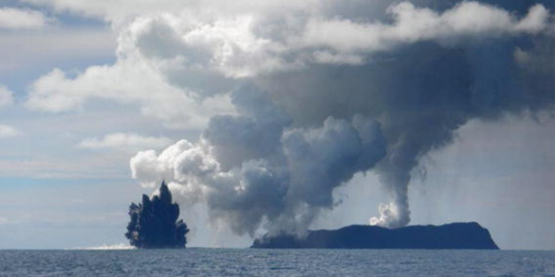 Huge volcano emerges from largest underwater eruption ever recorded